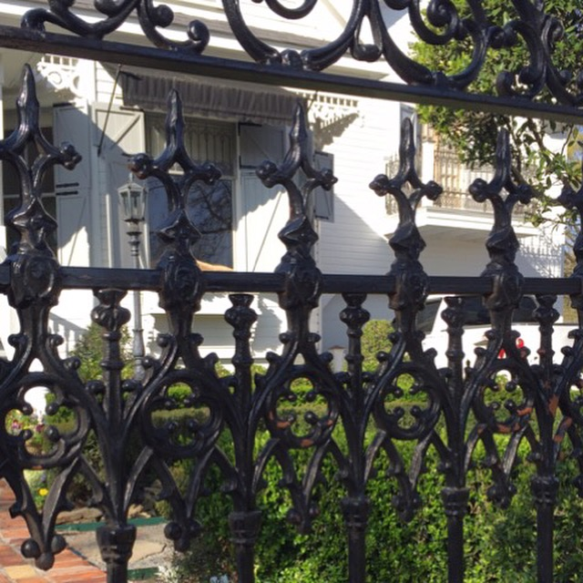 New Orleans style Iron Gate entrance to garden